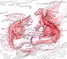 Two Red Dragons