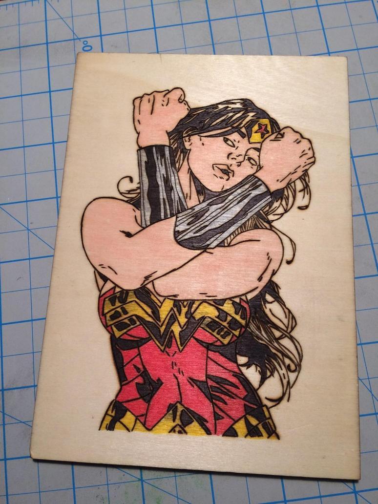 Wonder Woman woodburning  by Maddmatthias247