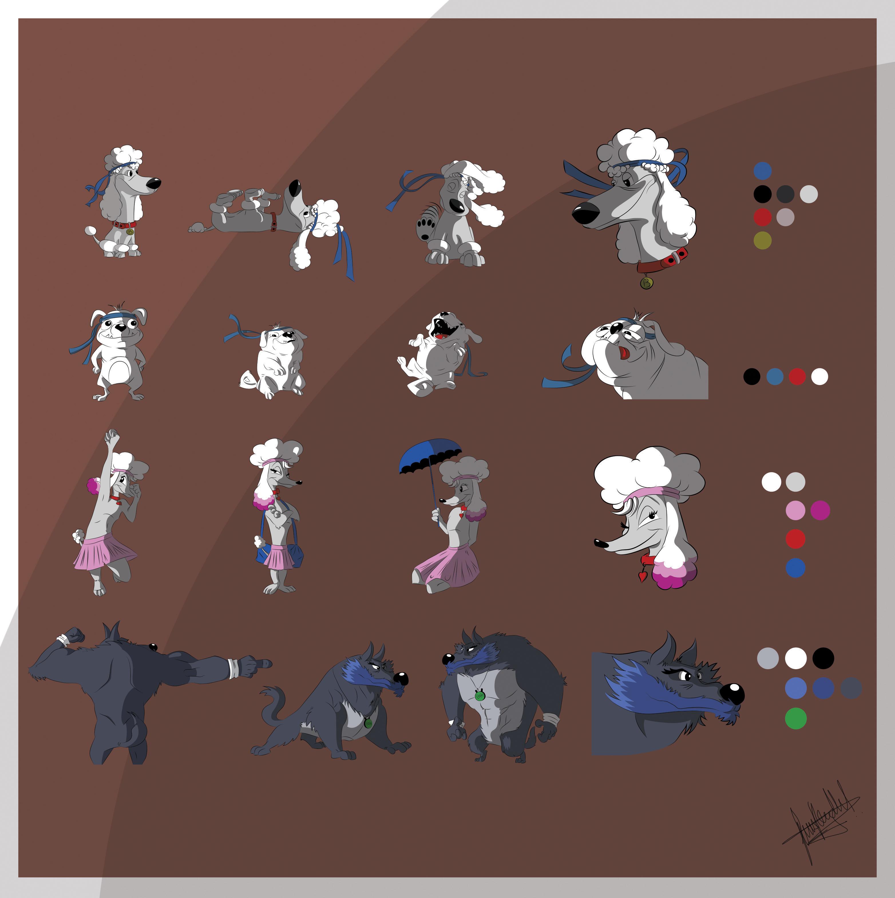 Character Design Set : Character design set gsharp by lucasrobledo on