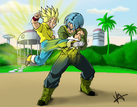Dragonball Super - Trunks and Trunks