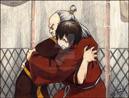 Zuko and Uncle Iroh (colored)