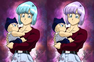 Bulma and baby Trunks