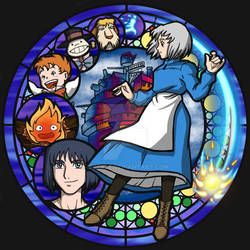 Howls Moving Castle Stained Glass