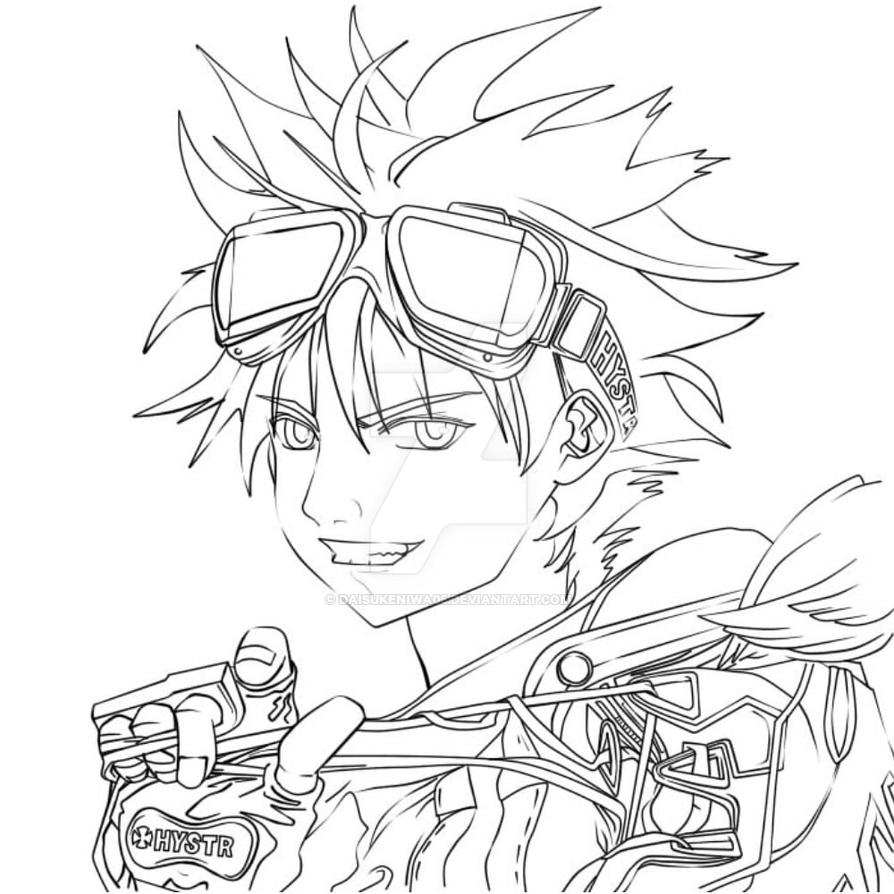Sai Lineart : Air gear lineart at paint tool sai by daisukeniwa on