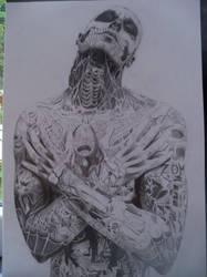 Rick Genest - Zombie Boy (sketch A3)