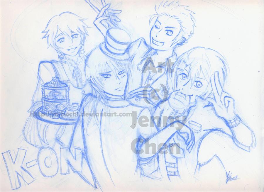 K-ON GenderBender Sketch by Mikochi