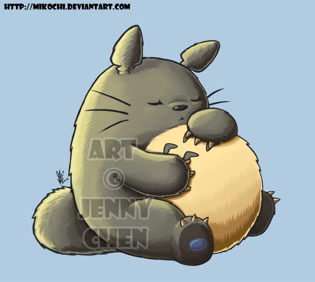 Fatty Totoro by Mikochi