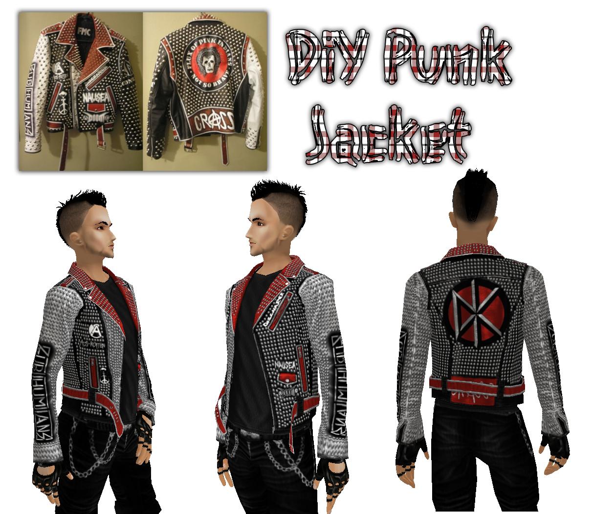 White DiY Punk Jacket by crowhitewolf on DeviantArt
