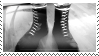 White laced boots Stamp by crowhitewolf