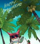Appmon 4th anniversary! by ginryuumaru