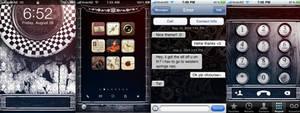 Steampunk Grunge iPhone Theme