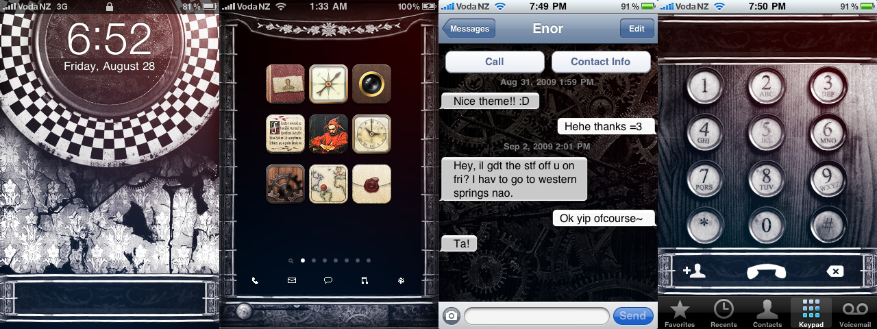 Steampunk Grunge iPhone Theme by kormyen