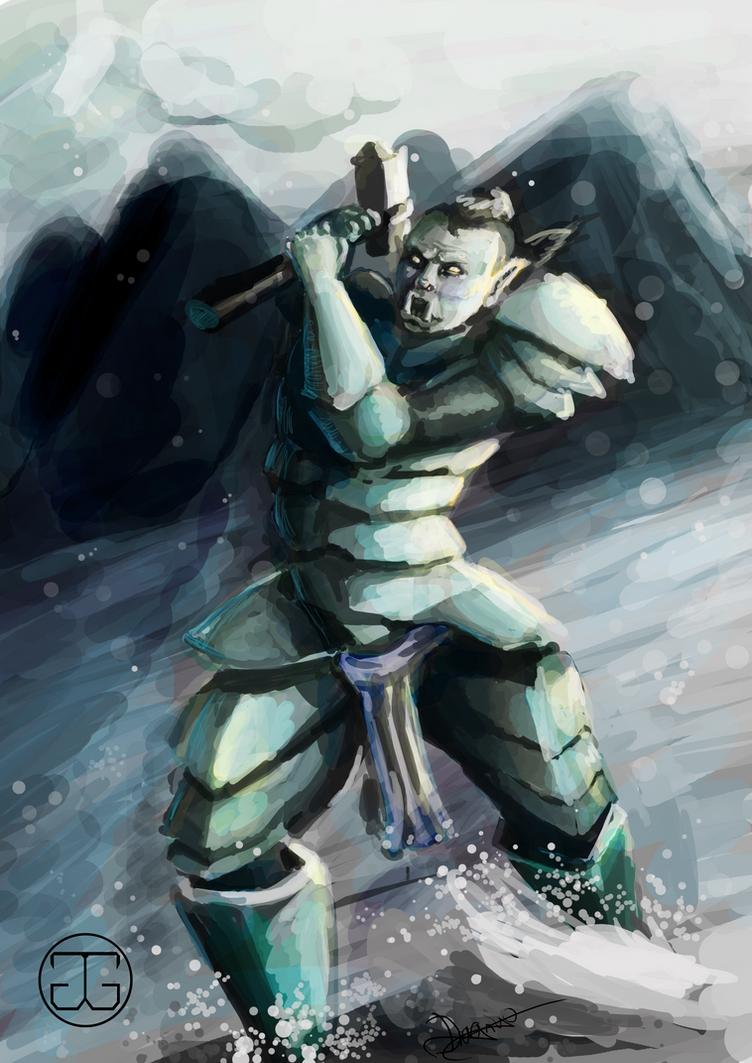 Orc Speedpaint by Dragriyu