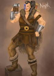 Novek the Human Barbarian