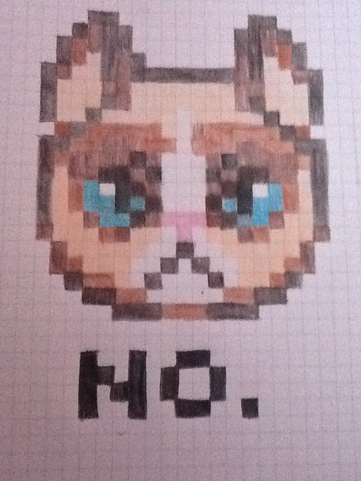 Cake The Cat Pixel Art : Grumpy Cat Pixel Art! by Pikabea on DeviantArt