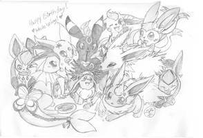 Eeveelution Birthday! by lossetta932