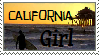 California Girl Stamp by MouseSky