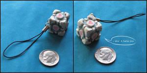 Companion Cube Keychain