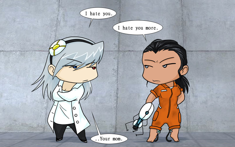 glados and chell relationship tips