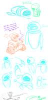 Random WALL-E Scribbles
