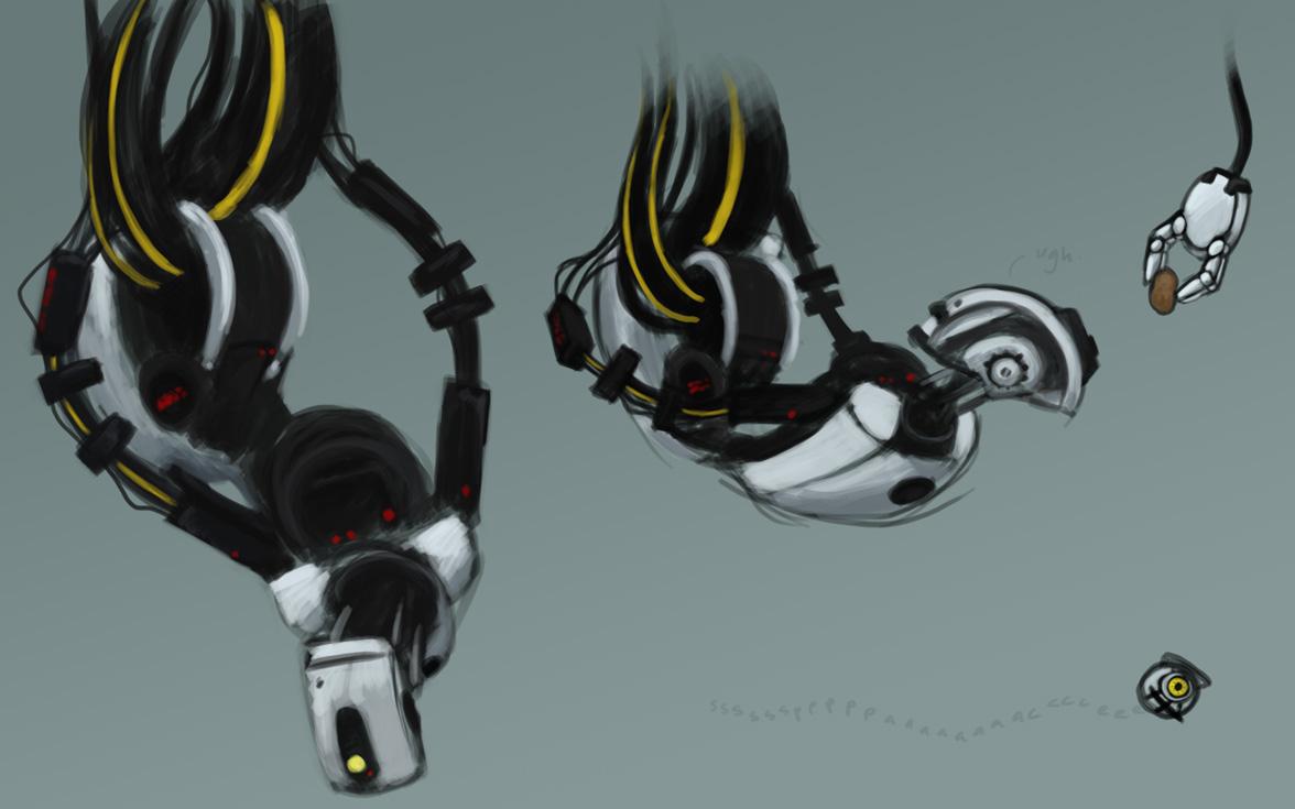 Portal2 Glados Practice By Gryphonworks On Deviantart