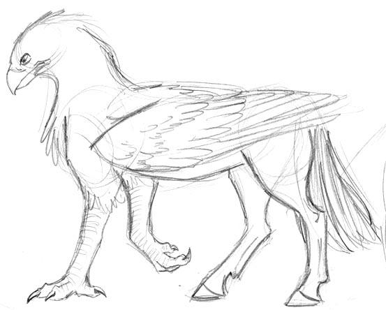 coloring pages buckbeak - photo#4