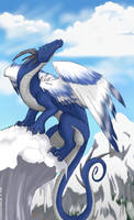 Ice Dragon's Peak by gryphonworks