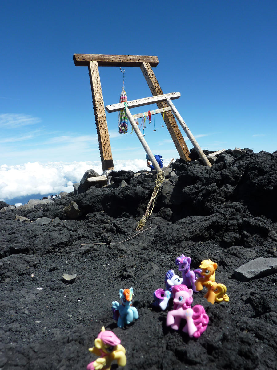Mane 6 at Fuji peak by caliaponia