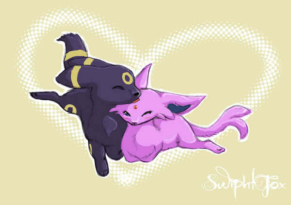 Espeon x Umbreon Test Drawing by SwiphtFox on DeviantArt