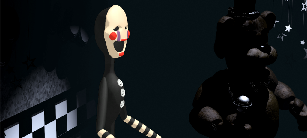 Puppet in five nights at freddy s 1 and freddy by dubstepcreeperz