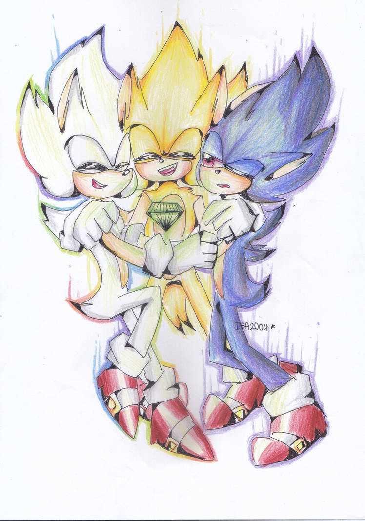 Hyper sonic super sonic and dark sonic by iba2004 on - Super sonic 6 ...
