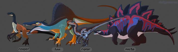Dino crew 2 by Dinkysaurus