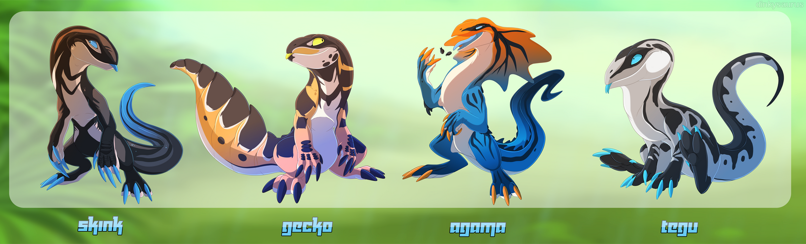 Lizards II by Dinkysaurus