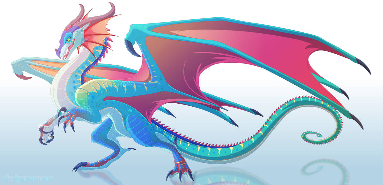 Glory of RainWings- Wings of Fire fanart by Dinkysaurus