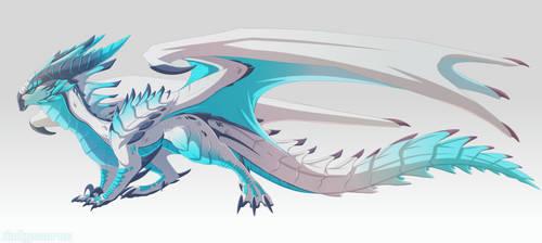[Custom] Ice dragon by Dinkysaurus