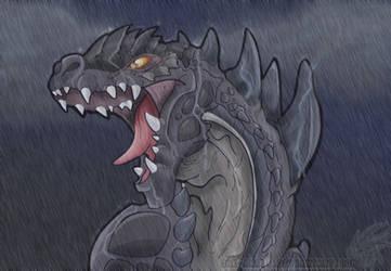 Godzilla by Dinkysaurus