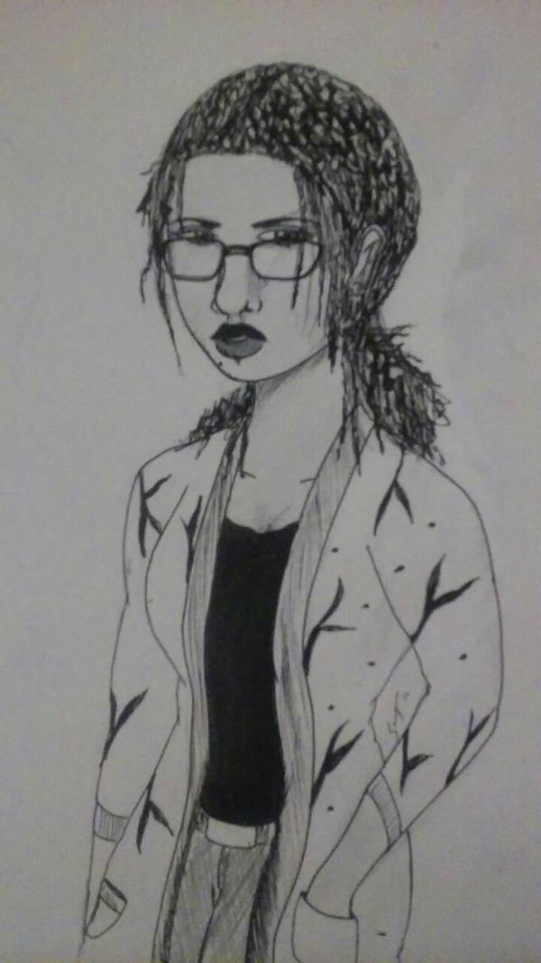 I draw a woman by DreadloxO3O