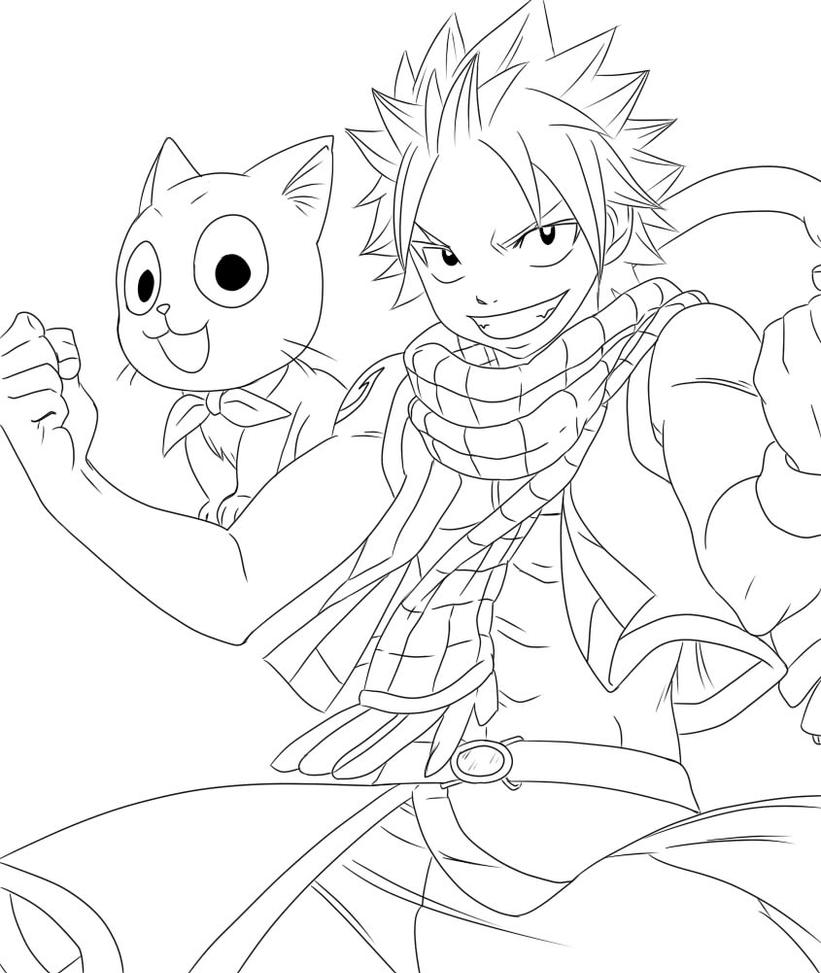 how to draw fairy tail happy