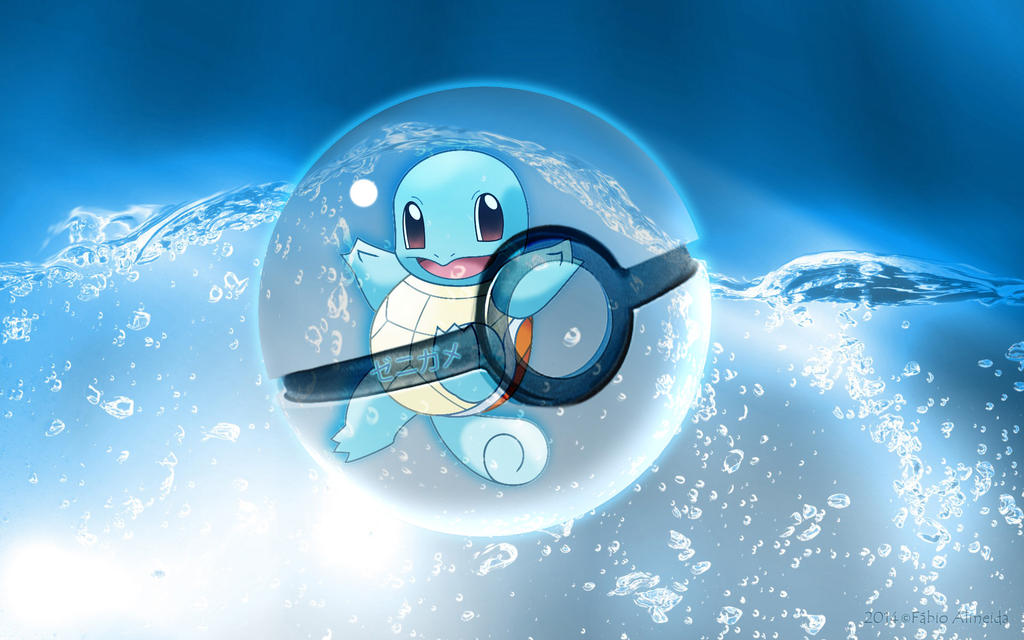 Squirtle Pokeball By Fakkun13