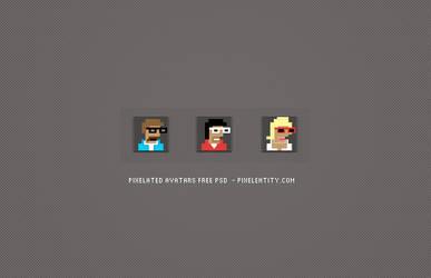 Pixelated Avatar Maker PSD by pixelentity
