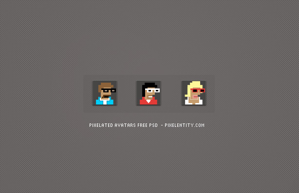 Pixelated Avatar Maker PSD by pixelentity