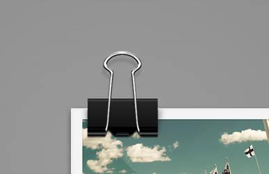 Black Paper Clip PSD Freebie by pixelentity