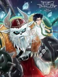 Digimon Joe Kido and Vikemon by WC-TahoGi