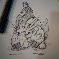 Mega Swampert and Ruby (Brandon) by WC-TahoGi