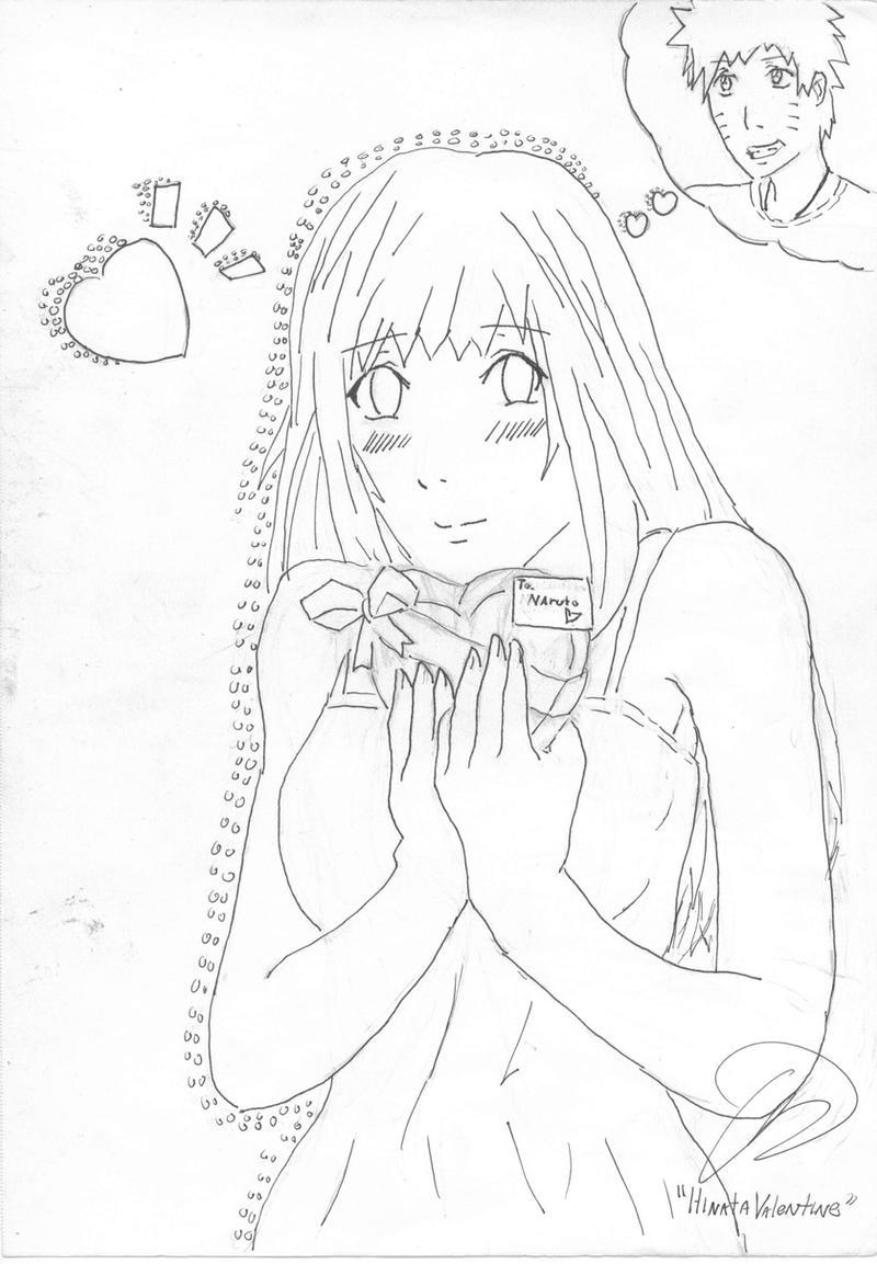Hinata valentine line art