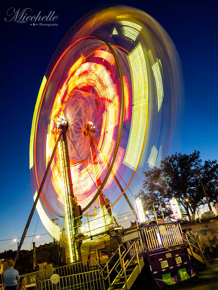 Ferris Wheel - County Fair by mishkuu