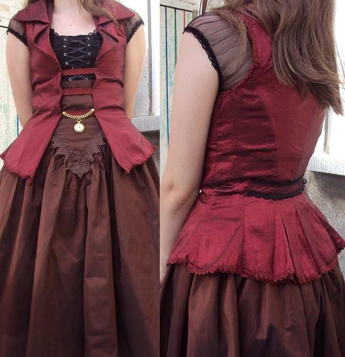 Taffeta Jacket by VictorianRedRose