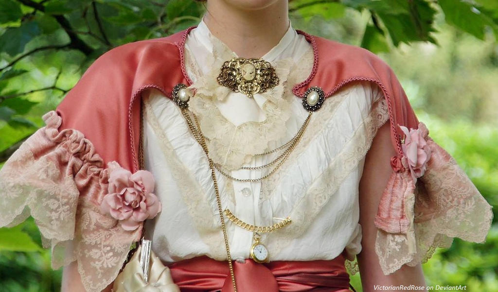 Victorian/Edwardian inspired cape and blouse by VictorianRedRose