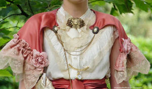 Victorian/Edwardian inspired cape and blouse