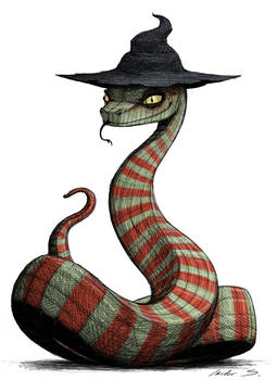 Sneaky snake witch (colored version)